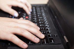 ghostwriter using laptop