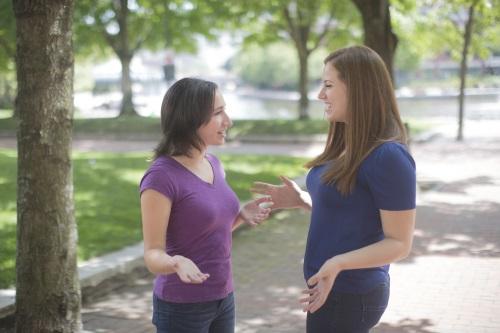 2 women in park