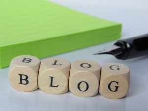 Blog spelled out in blocks, to remind us to consistently blog